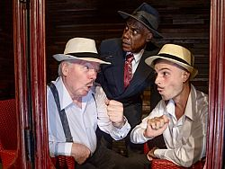 Theatrix group at peak performance with The 39 Steps