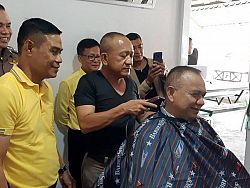 Phuket City Police now offering free haircuts, close shaves