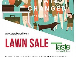 Lawn Sale - **Postponed from Aug 02 to Aug 16 due to the weather.**