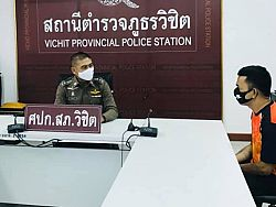 Police-impersonator brother surrenders, wanted for Phuket roadside robberies