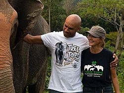 UK artist Goldie steps up for Phuket elephant relief