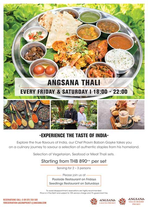 **Take Away Only** - Angsana Thali