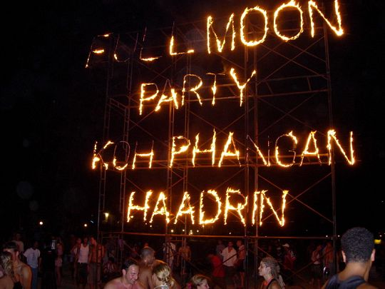 Full moon parties on Koh Phangan attract hundreds of tourists every month.