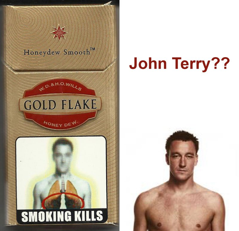 Smoking is bad, says John Terry?