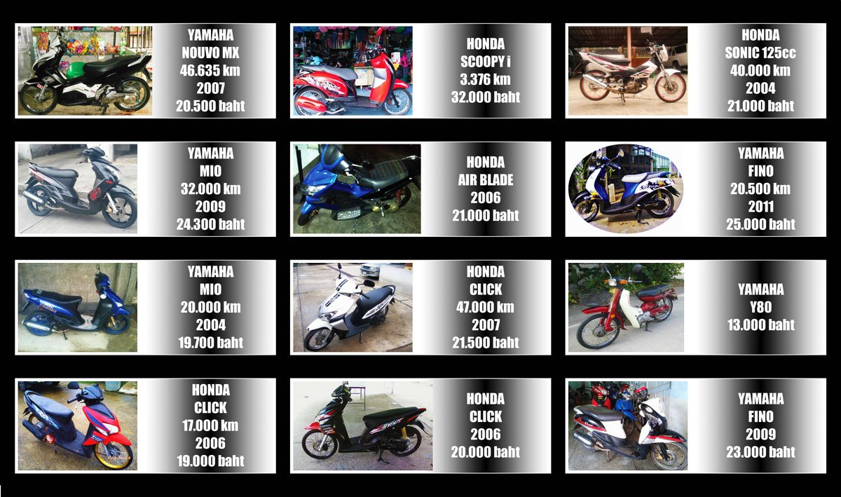 Offer Motorcycles 20/08/12