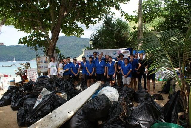 Kajonkiet Phuket kids clean-up Yanui Beach