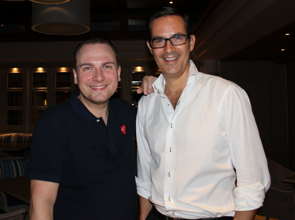 German chef Tim Raue, left, and Antoine Melon, Trisara Resort Manager.
