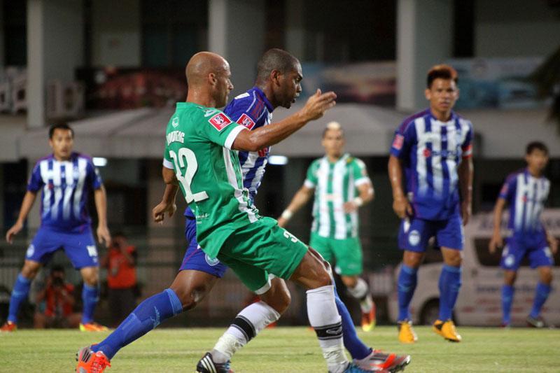Phuket FC's French midfielder Geoffrey Doumeng.