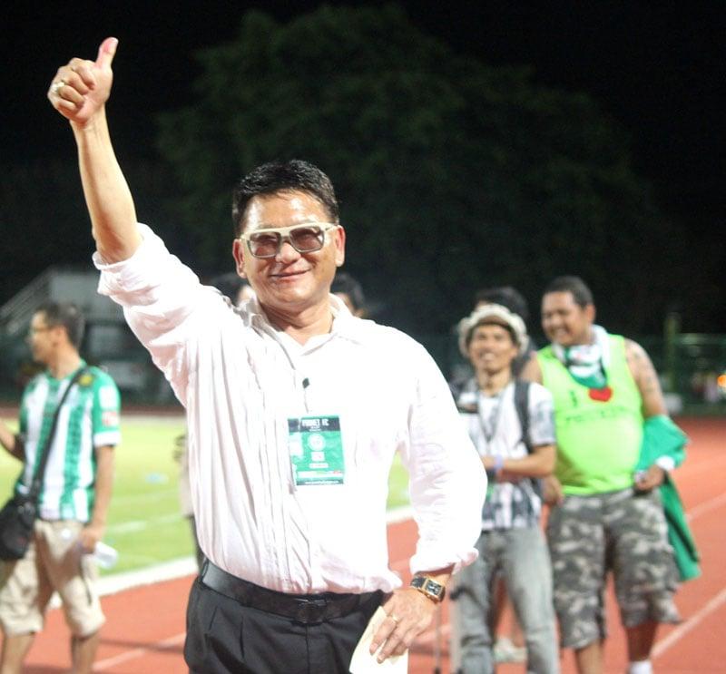 Phuket FC Chairman Pamuke after the first home win.