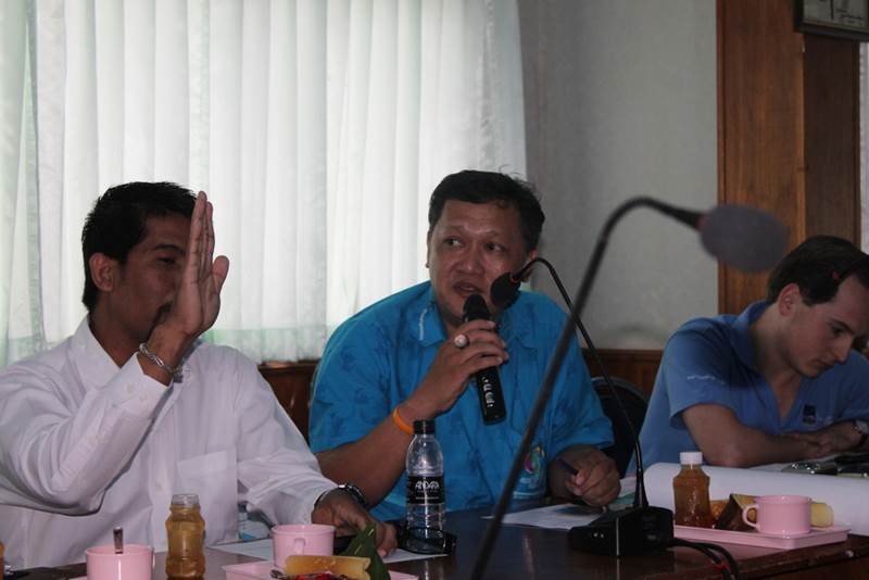 Chat Sampon, an officer from the Phuket Provincial Environment Office expresses his concerns.