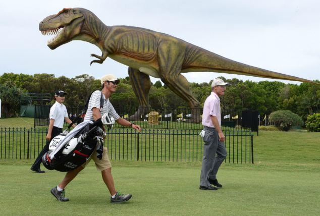 Robot dinosaurs invade Australia