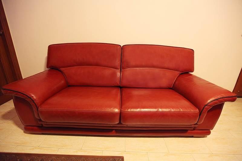 3 Seats Leather Sofa
