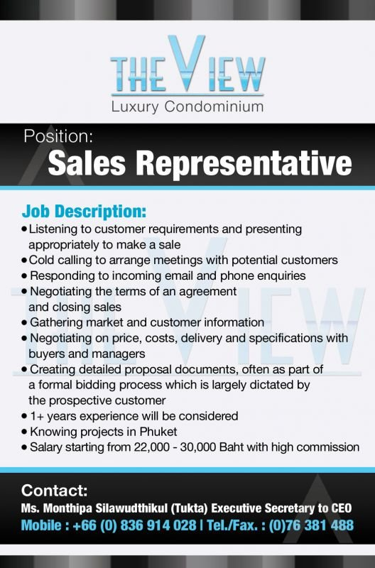 The View Looking For Sales Rep