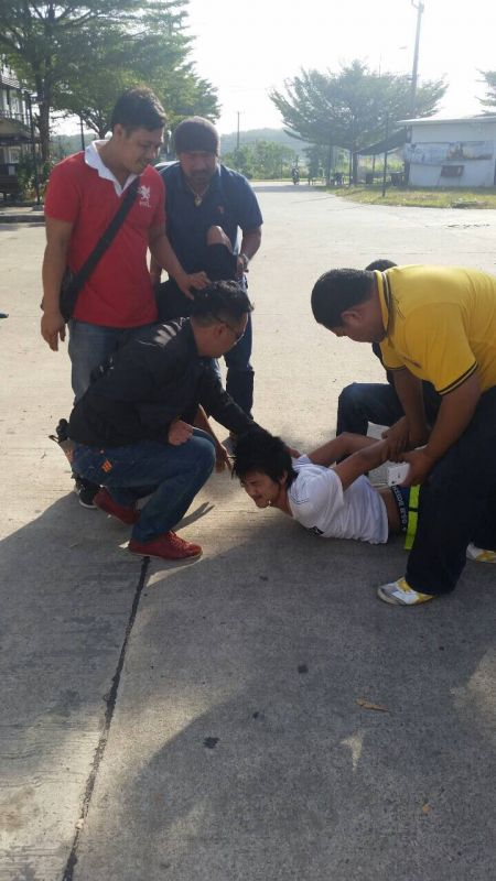 Police nab the 20-year-old suspected shooter in Phang Nga this morning.