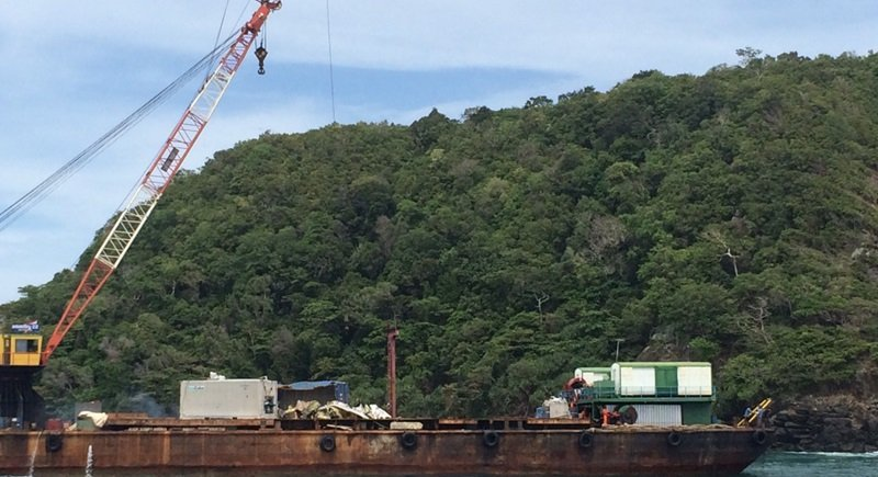 Containers from sunken cargo ship off Phuket being recovered