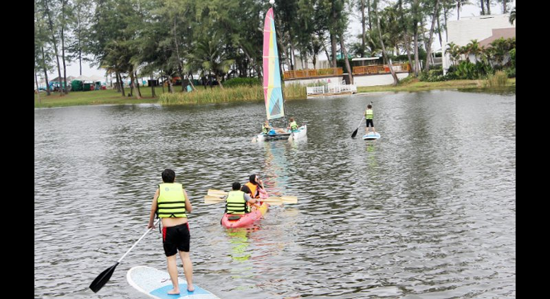 FUN FOR EVERYONE: The Water Recreation area offers many easy and safe activities for all ages.