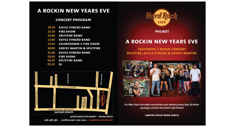 Hard Rock Café Phuket to rock New Year's Eve