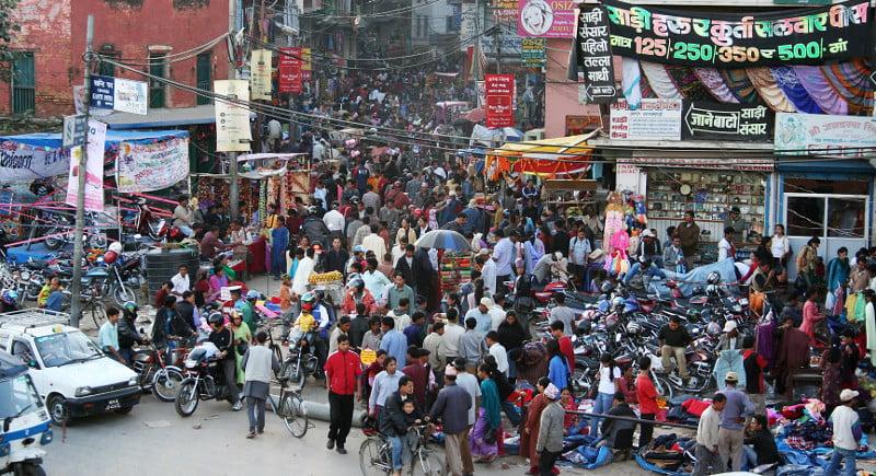 A crowded street in Kathmandu. Photo: Pavel Novak