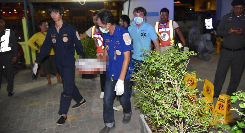 It is alleged that the man jumped from the seventh floor of the Patong Condotel on Rath-U-Thit 200 Pi Rd.