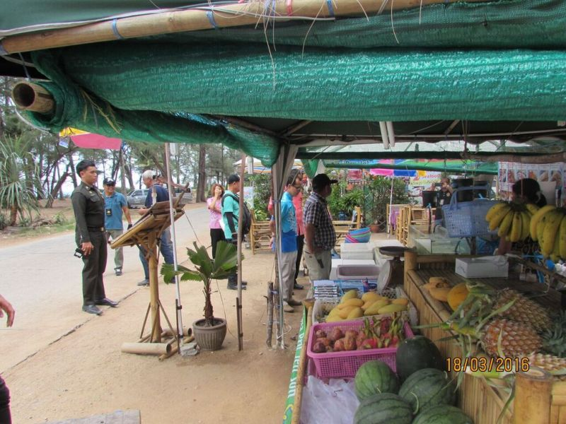 It is believed there are nine people responsible for setting up the businesses on Mai Khao Beach. Photo: PR Dept