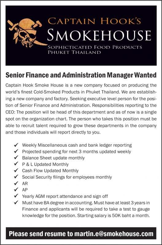 Senior Finance and Administrat