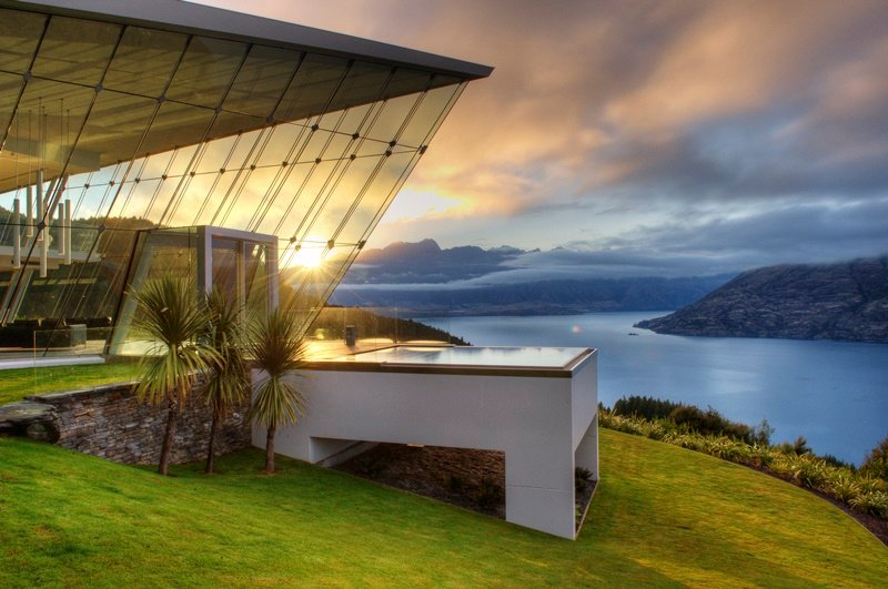 Architectural wonder on a New Zealand cliff