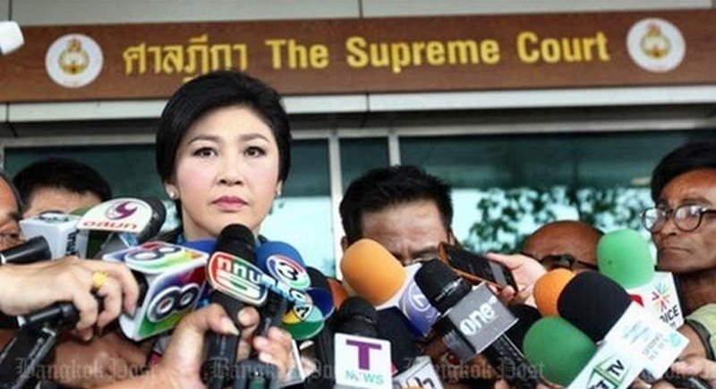 Former prime minister Yingluck Shinawatra has also been on trial at the Supreme Court's Criminal Division for Political Office-Holders for the past year. Photo: Bangkok Post
