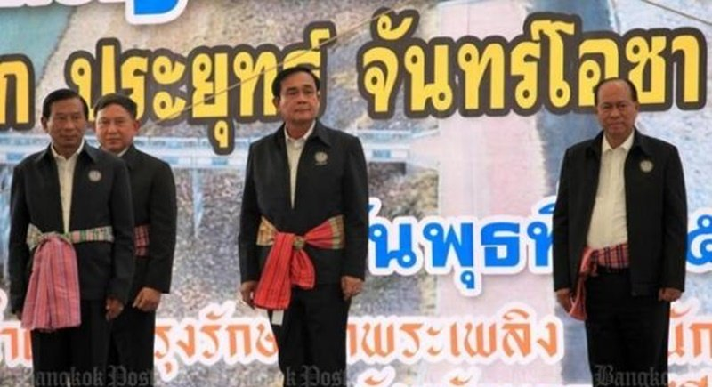 Since the coup in May, 2014, Prime Minister Prayut Chan-o-cha has made several high-profile trips to the Northeast, but Isan provinces weren't impressed enough to vote for his proposed constitution on Sunday (Aug 7). Photo: Bangkok Post