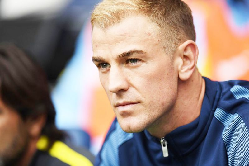 Manchester City's goalkeeper Joe Hart sits on the substitutes bench in their game against Sunderland on Sunday (Aug 14). Photo: Paul Ellis/AFP