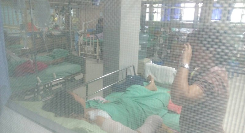 Ms Patcharin Petlohlein, 31, is currently in Vachira Hospital Phuket where she will still need further treatment for her injuries. Photo: Eakkapop Thongtub