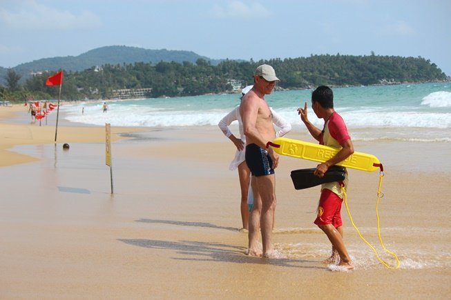 Language barriers are one of the biggest problems faced by Phuket's lifeguards