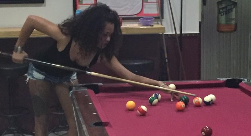 Ket from Wet Dreams will be hoping to score in this week's round of the Patong Pool League. Photo: Scott Griffin