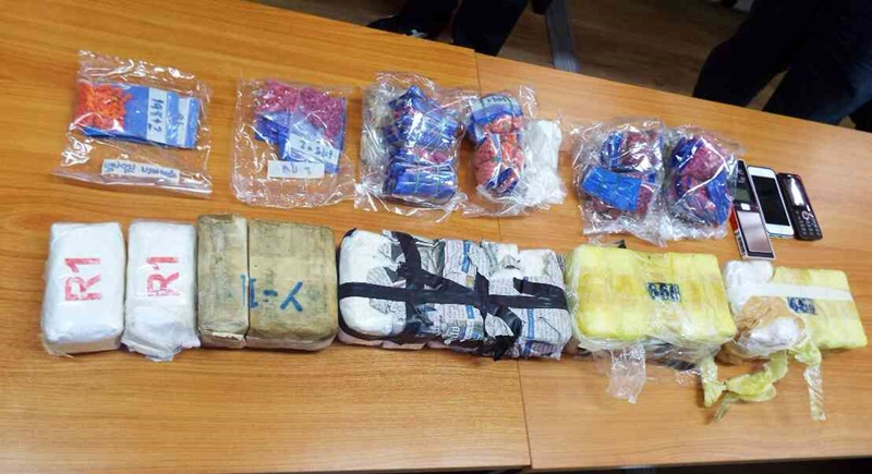 Police presented the seized items during yesterday's press conference. Photo: Eakkapop thongtub