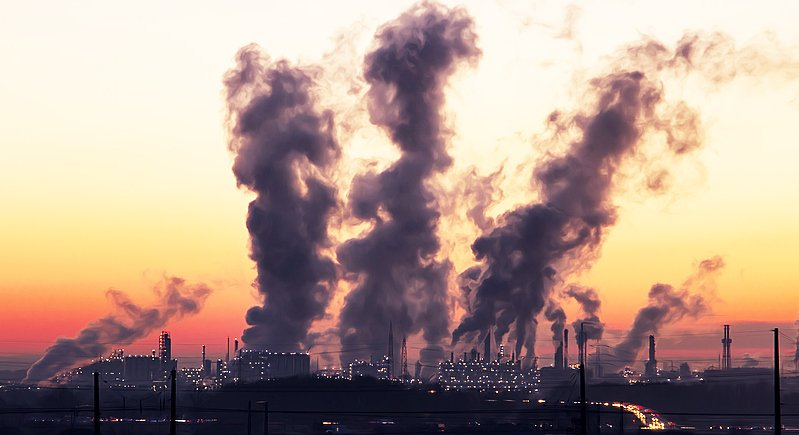 Heavy industry is one of the leading causes of air pollution.