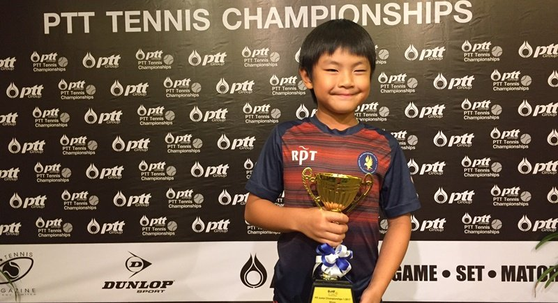 Birdy with his PTT Junior Championship trophy.