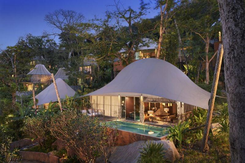 Tent Pool Villa at Keemala.