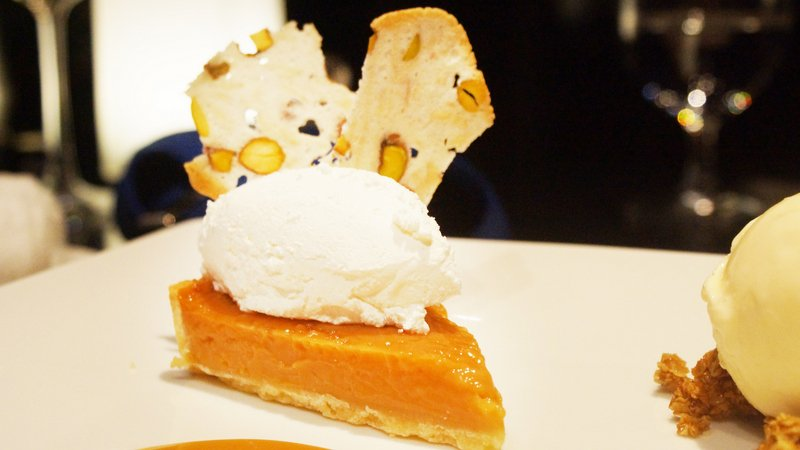 The caramel tart was to die for. Photo: Mark Knowles