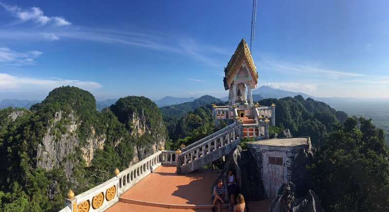 The breathtaking view of Krabi from the summit of the Tiger Cave Temple. Photo: Jamie Monk