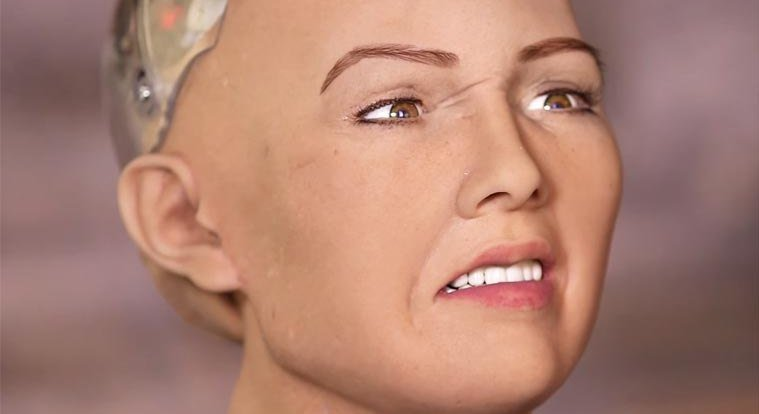Sophia is a human-like robot with artificial inteligence built by Hanson Robotics. Photo: AFP