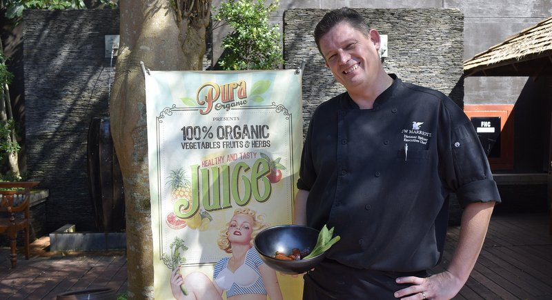 Executive Chef Dietmar Spitzer prepared healthy meals with ingredients from Pura Organic.