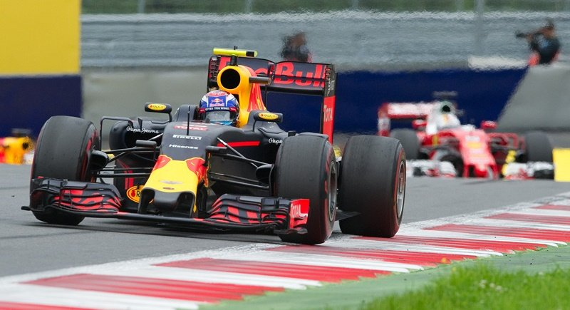 Infiniti Red Bull racing's Belgian-Dutch driver Max Verstappen drives during the Formula One Grand Prix of Austria at the Red Bull Ring last year. Photo: Samuel Kubani/AFP