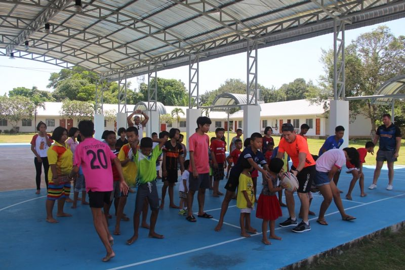 Joseph  chose to spend his time with orphaned and disadvantaged children at Barnhem while on holiday in Phuket. Photo: Matt Pond