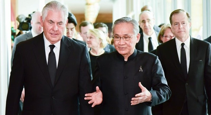 Thailand hosts Tillerson, shows unity on Pyongyang sanctions