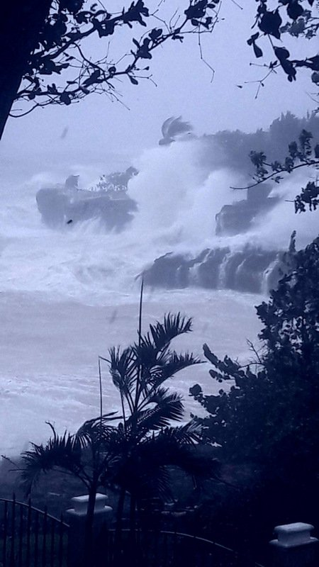 Huge waves battered the shoreline right in front of the family's home. Photo: Muzza Nordstrand