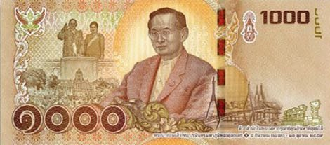 The new genuine B1,000 banknote in circulation as of today (Sept 20). Image: Bank of Thailand