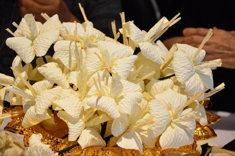 'Dok Mai Jan' flowers will be burnt on the Royal Funeral Pyre.  Photo: NNT