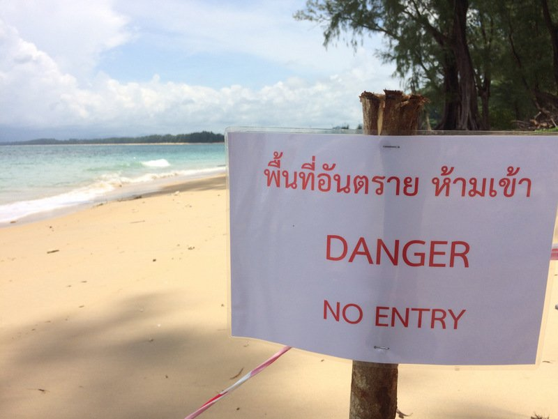 The area has now been sealed off to the public. Photo: Eakkapop Thongtub
