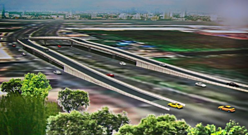 A computer generated image of one of the proposed u-turn flyovers. Photo: File