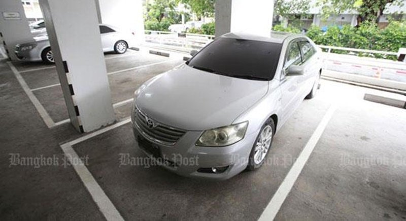 Police say this Toyota Camry was used to help former prime minister Yingluck Shinawatra escape the country. Photo: Pornprom Satrabhaya