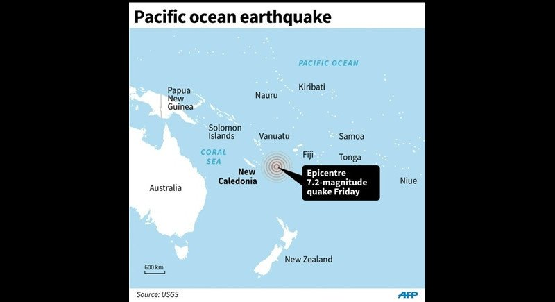 Pacific earthquake. Graphic AFP